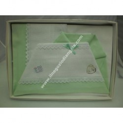 Sheet for cradle 90x120 cm with aida, white colour