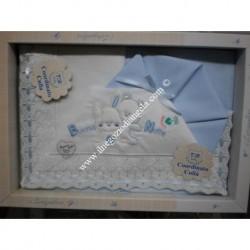 """Light blue Sheet for cradle """" Amore """""""