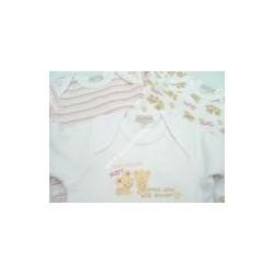 3 body manica lunga, cotone felpato stampato, rosa LIABEL