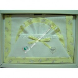 Sheet for bed child 120x180, yellow color with aida