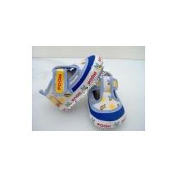 """Scarpe da neonato """"Winnie The Pooh"""", bianco e celeste n17"""