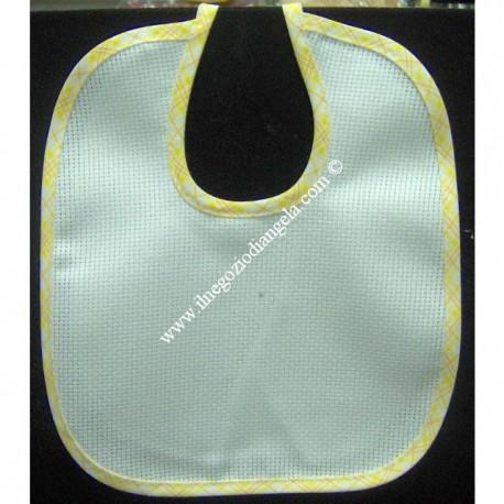Yellow Embroidery bib with aida