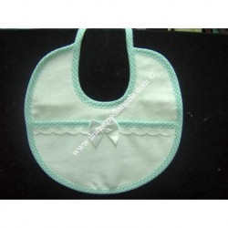 Green Embroidery bib with aida Art. 229052