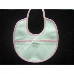 Pink Embroidery bib with aida Art. 229052