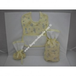 Stitchable set with bib and...