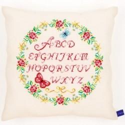 Cushion Alphabet , Roses, BUTTERFLY