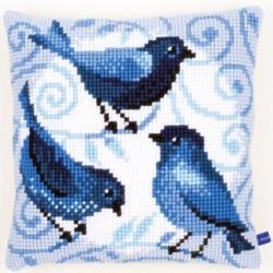 Cuscino uccellini blu PN-0153868 VERVACO