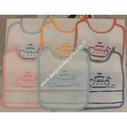 Set of 6 bibs stitch cross stitch with Aida