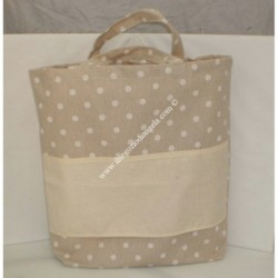 Nursery bag carrier with Aida for embroidery, cross stitch