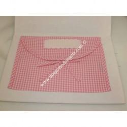 Busta Corredino con tela aida col. rosa