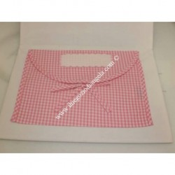 Layette envelope with Aida pink color