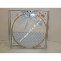 Light blue for cradle circle pillow
