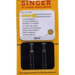 Aghi gemelli per macchina da cucire, Singer per tessuti di cotone cat. 2024 n° 90