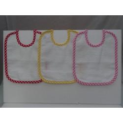 3 bavaglini serie scozzese con tela aida da ricamare a punto croce variante 1