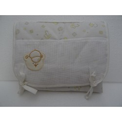 Beige Stichtable portable changing pad