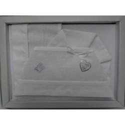 Lenzuolino da ricamare 90x120, bianco, bordo piquet