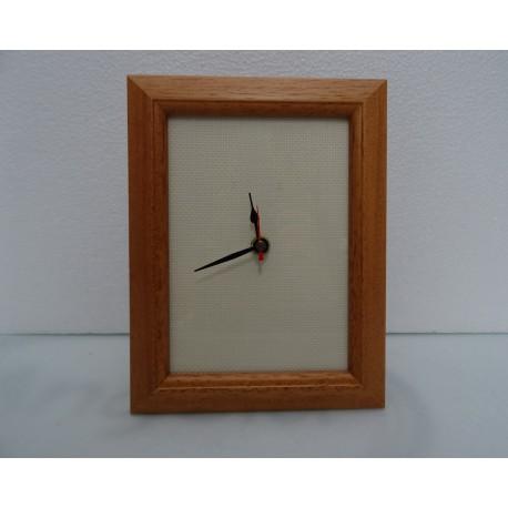 Rectangular clock wooden light