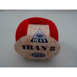 Cotone perlato IRAN colore ROSSO, n° 8 col. 5
