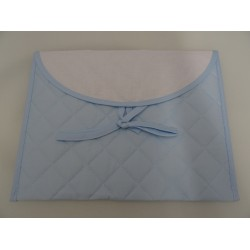Layette envelope with Aida light blue color