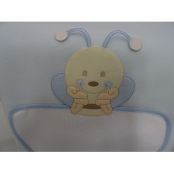 "Cover fleece to bed ""Teddy Bear"" 105x148 cm, pink, for embroidery, cross stitch with Aida inser"