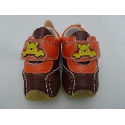Scarpe da neonato di Winnie The Pooh, col. marrone e arancio