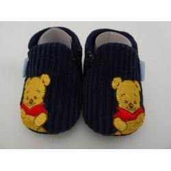 Pantofole Winnie The Pooh, blu a coste