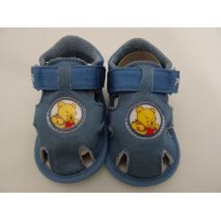 """Scarpe da neonato """"Winnie The Pooh"""", col. Jeans n16"""