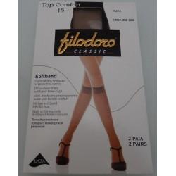 Top comfort 15 den gambaletto Filodoro, confezione da due paia