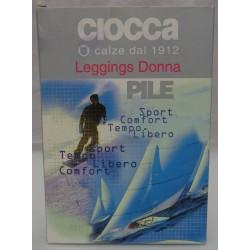 Leggings donna CIOCCA in pile S/M nero art. 612/l