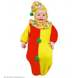 Clown, pagliaccio a sacchetto 0-9 mesi