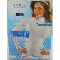 Long sleeved t-shirt BELLISSIMA with high neck band in elasticiz