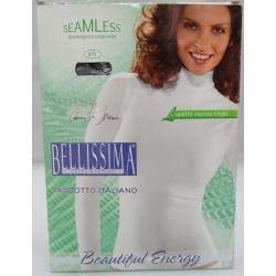 Bellissima Long sleeved t-shirt with neck band in elasticized mi