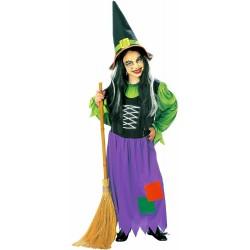 Strega - bambina streghetta, costume per halloween e carnevale taglia 8/10 anni