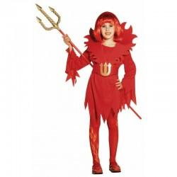 Diavolessa - bambina diavolo, costume per carnevale e halloween, taglia 11/13 anni