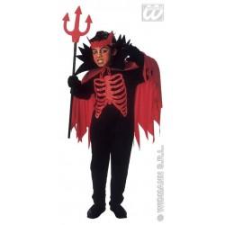 Diablo, bambino diavolo, costume per halloween e carnevale, taglia 5/7 anni