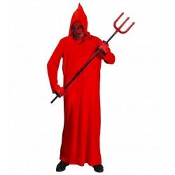 Diavolo rosso da bambino, costume per halloween e carnevale, taglia 5/7 anni