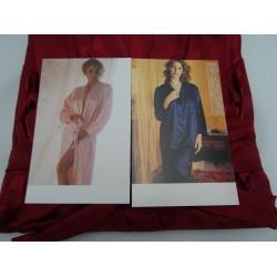 Pigiama e vestaglia in raso, coordinato colore bordò, taglia M