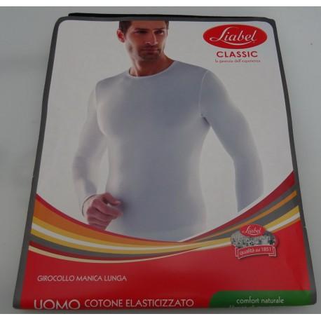 Shirt for man interlock cotton Liabel BLACK