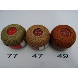 Cotone perlato da uncinetto, colorato, SESIA n°8