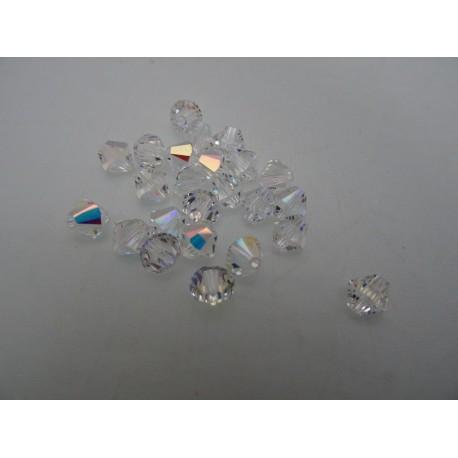 Bicone 4mm Swarovski cristal ab