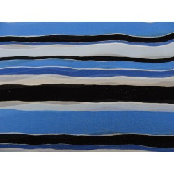 Remnant fabric blue viscose 140x200 cm