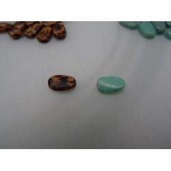 Perline FAVETTA, in vetro marmorizzato, art. 8440-451