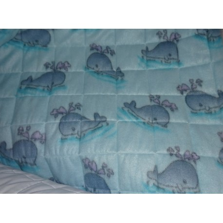 """Quilted pile fabric """" Balene """""""
