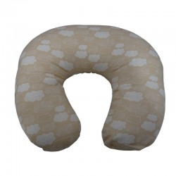 Beige and light blue nursing pillow