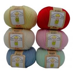 Lana baby silke, 100% pura lana merinos