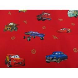 """Cotone stampato """" Disney Cars """" colore rosso, tessuto originale!"""