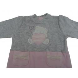 Tutina di ciniglia da neonata Ellepi art. BQ2799