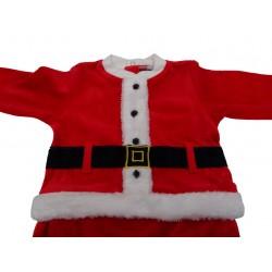 Tutina ciniglia neonato Babbo Natale art. TN3670