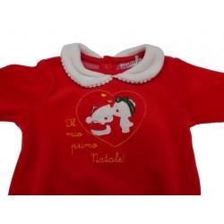 Tutina ciniglia neonata Primo Natale art. tc34U