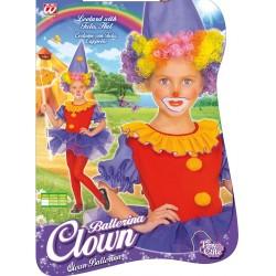 Costume Clown Ballerina 3-4 anni